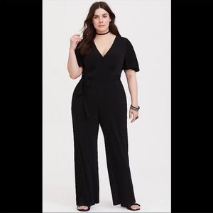 Torrid black jumpsuit with pockets